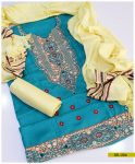 Staple Linen 3 PCs Un-Stitched Machine Embroidered Suit with Wool Shawl -SEL206