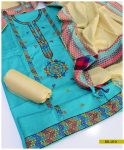 Light Weight Marina 3 PCs Machine Embroidered Un-Stitched Suit with Wool Shawl -SEL210