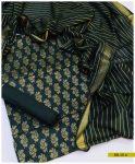 Printed Linen 3 PC Un-Stitched Suit -SEL214