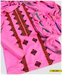Aari Embroidery Light Weight Marina 3 PC Suit with Wool Shawl -SEL220