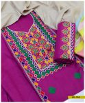 Light Weight Marina 3 PCs Un-Stitched Embroidered Suit -SEL222