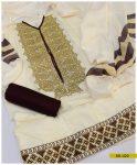 Staple Linen 3 PC Un-Stitched Embroidered Suit -SEL223