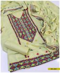 3 PCs Un-Stitched Machine Embroidered Light Weight Marina Suit -SEl225