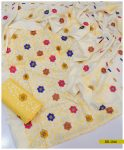 Light Weight Marina 3 PCs Bareeze Jaal Embroidery Suits With Wool Shawl -SEL244