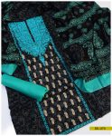 Linen 3 PCs Embroidered Suit With Printed Dupatta - SEL273
