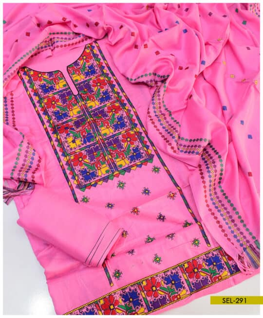 Light Weight Marina Computer Embroidery 3 PC Suit – SEL291