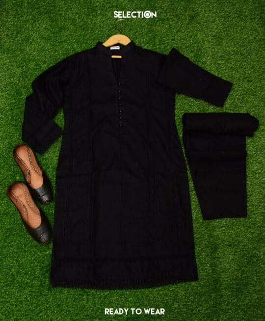 Selection's 2 PC Stitched Cotton Shirt and Trouser