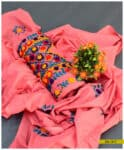 Hand Embroidered 3 PC Lawn Un-Stitched Suit with Lawn Dupatta - SEL317