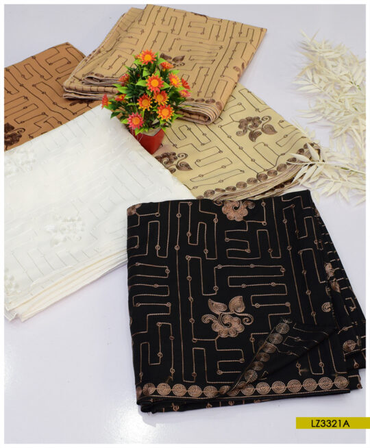 Swiss Lawn Embroidered Shawls - LZ3321A