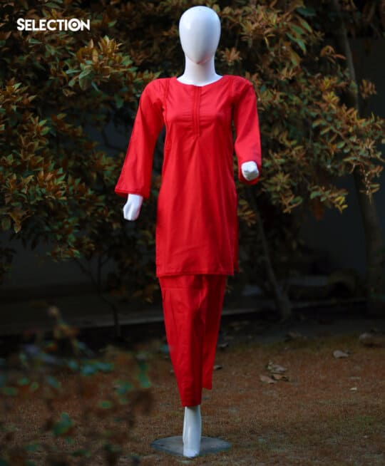 Deaigner's Ready to Wear Red Lawn 2 PC Shirt and Trouser - RTW-B