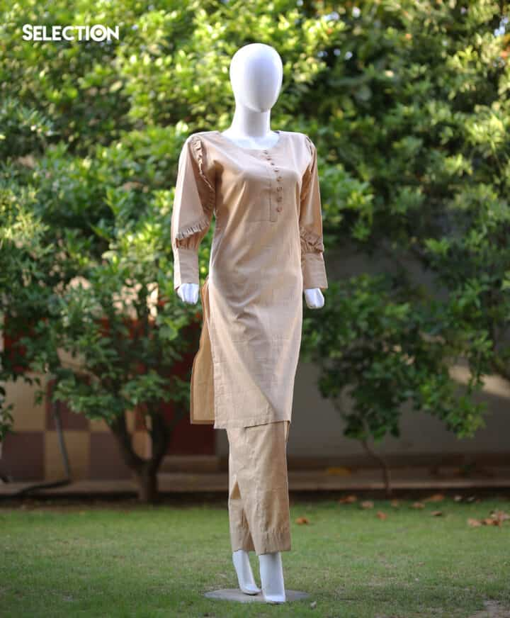 Selection's 2 PC Stitched Designer Collection Lawn Shirt and Trouser RTW-J