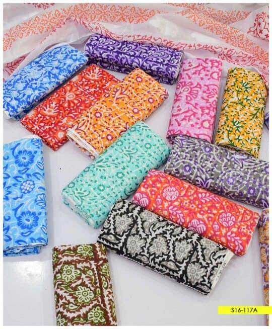2 PCs Block Print Lawn Shirt and Cotton Broshia Dupatta - S16-117A