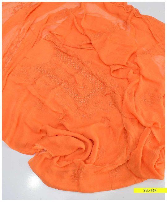 Shadow Sheesha Work Chiffon Shirt and Dupatta - SEL-464
