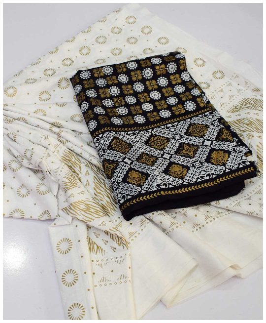 Linen Embosed Print Shirt and Embosed Print Cotton Trouser - S25-249A